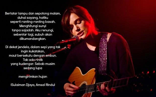 Puisi Amsal Rindu karya Sulaiman Djaya