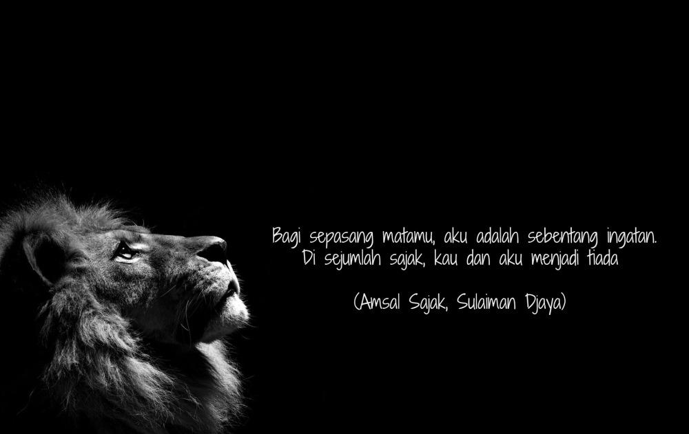 Puisi Amsal Sajak Sulaiman Djaya