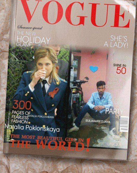 Natalia Poklonskaya and Sulaiman Djaya Vogue Magazine