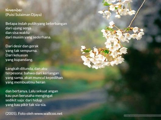 Puisi November Sulaiman Djaya